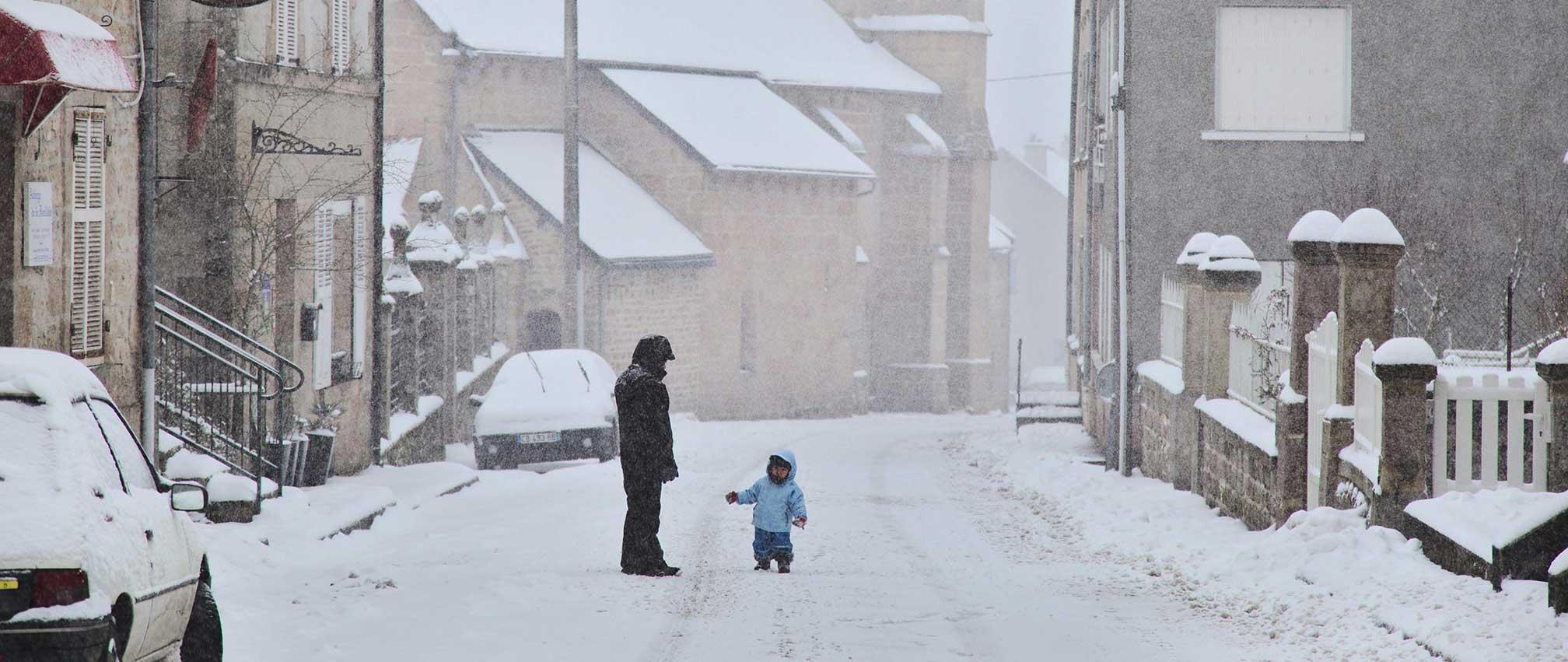 Faux-la-Montagne, hiver sur le Plateau de Millevaches